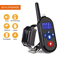 TIMPROVE 330 Yards Range Remote Dog Training Collar, 100% Waterproof IPX8 and Rechargeable Dog Shock Collar with Beep, Vibration and Shock, Electric Dog Collar for Puppy, Small, Medium and Large Dogs (For 1 Dog)
