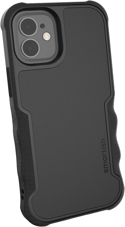 Smartish iPhone 12 Mini Armor Case - Gripzilla [Rugged + Protective] Slim Tough Grip Cover - Black Tie Affair