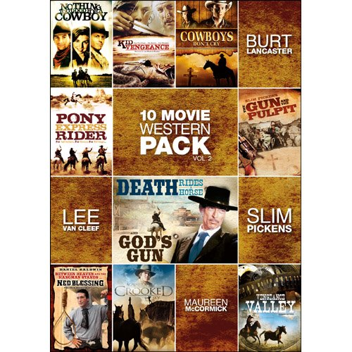 10-Movie Western Pack, Vol. 2 (Nothing Too Good For a Cowboy / Kid Vengeance / Cowboys Don't Cry / Pony Express Rider / Gun and the Pulpit / Death Rides (Pony Express Ride)