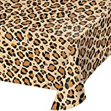 Party Central Club Pack of 6 Brown and Black Leopard Print Decorative Dining Table Cover 108''