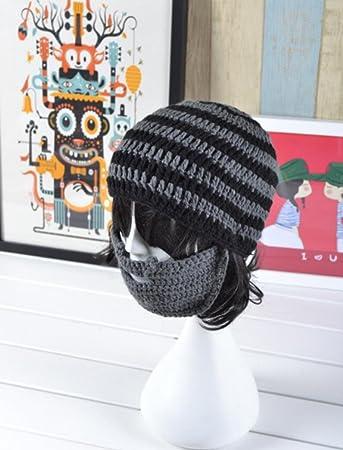 Winter Warm Männer Frauen paar Kinder gestrickt Bart Schnurrbart Hut ...