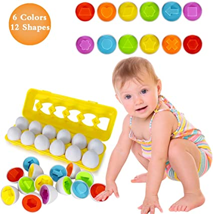 Amazon Com Toys For 1 2 3 Year Olds Easter Color Matching Egg Set Montessori Toys For Toddlers Educational Color Number Recognition Skills Learning Toy Gifts For Girls Kids Toddlers Age 1 2