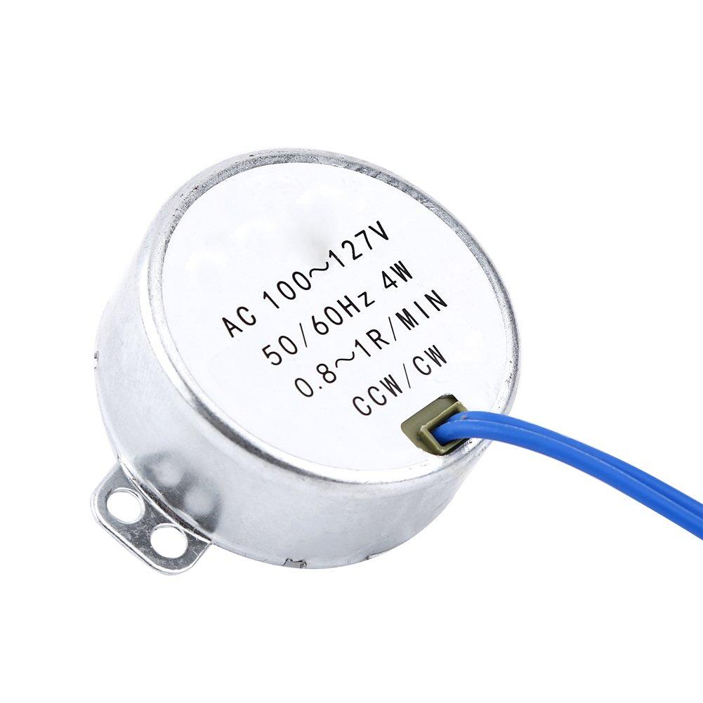 1 Motore Sincrono AC 100-127V 4W Motore Sincrono 50 0.8-1RPM 60Hz CCW//CW