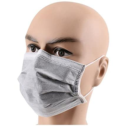 04f20c408 echo-ove 50 Pcs Disposable Earloop Mask with Independent Packing Anti Dust  Breathable 4 Layer