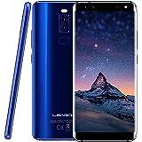 Smartphone in offerta,Leagoo S8,Telefono Cellulare Dual SIM con 5.72'' HD IPS schermo - quattro fotocamera (F: 8MP+2MP e P: 13MP+2MP) - 3GB RAM+32GB ROM - MT6750T Octa-core 1.5 GHz - 2940 mAh batteria - Impronte Digitali - Android 7.0 - 4G (blu)