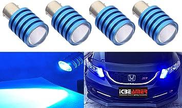 4x Amber 1156 7527 Projector Lens for Hyundai Kia Front Rear Turn Signal Light