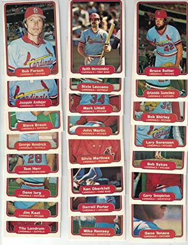 (St Louis Cardinals/ Complete 1982 Fleer Baseball Team Set with 23 Cards! 1982 World Series Champs!!)