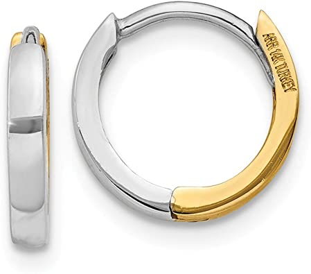 Mia Diamonds 14k Gold Double Hoop Earrings