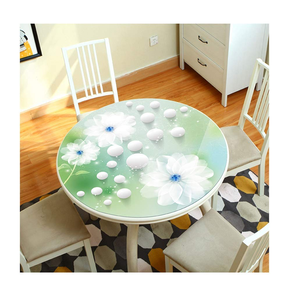 テーブルクロス 3D 円形 テーブルクロス 花 パターン PVC いいえ 洗う 防水 やけど防止 にとって ホテル レストラン 生活 ルーム (色 : B, サイズ さいず : DIAMETER100CM) DIAMETER100CM B B07RY1MM6P
