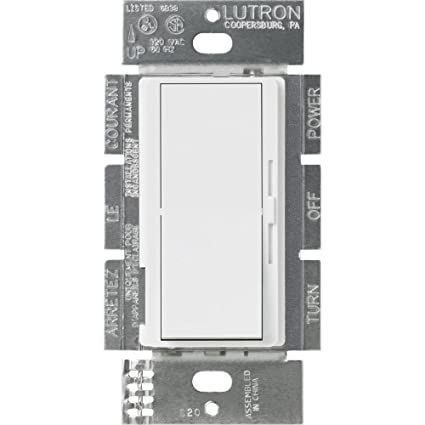 Lutron DVSTV-WH Diva 8 Amp 3-way/Single-Pole 0-10V Dimmer, no ... on digital dimmer circuit diagram, dimmer switch installation diagram, step dimming ballast wiring diagram, recessed lighting wiring diagram,