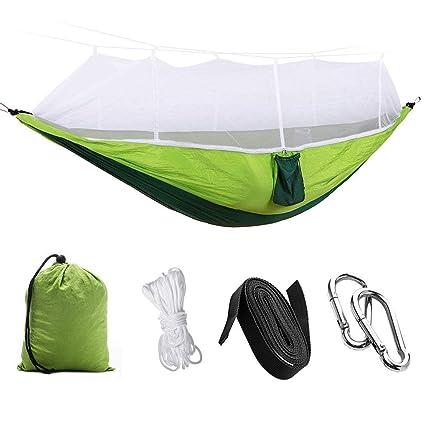 LIU JI Hammock with Bed net for Indoor Outdoor Swing Camping Camping air Hammock Double Hammock (Green)