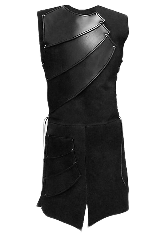 Men's Medieval Sleeveless Warrior Costume King Renaissance Victorian Waistcoats Vests
