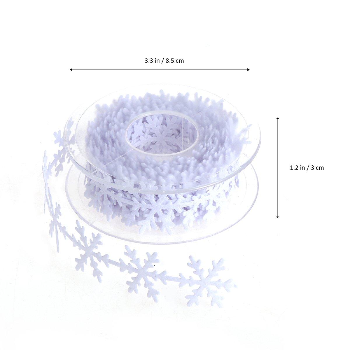 Color Blanco bestoyard Copo de nieve banda decorativa banda Punta Borte stoffband costura Manualidades