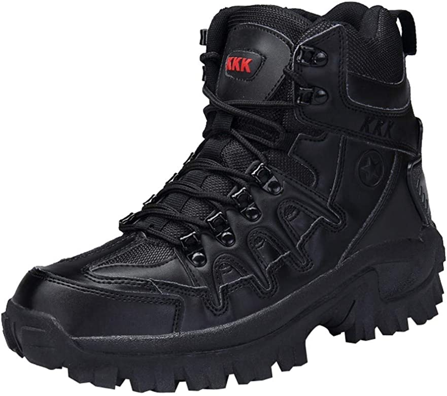 f77017fcd9b Caopixx Men's Sport Army Tactical Boots Desert Outdoor Hiking Leather Boots  Combat Shoes