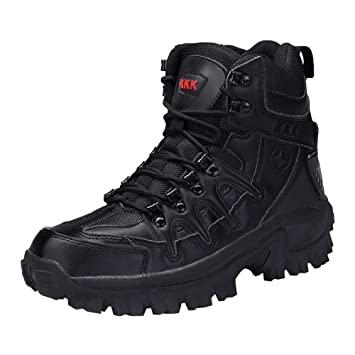 063c0c7a0b0 Dreamyth Men Hiking Boots Casual Lace-up Sport Army Tactical Boots Desert  Leather Boots Combat Shoes