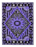 dark grey curtains uk FLY SPRAY Large Tapestry Psychedelic Burning Sun Moon Stars Universe Tie Dye Hippy Wall Hanging Polyester Durable Non-fading Indian Coverlet Blanket Curtain Decor Purple