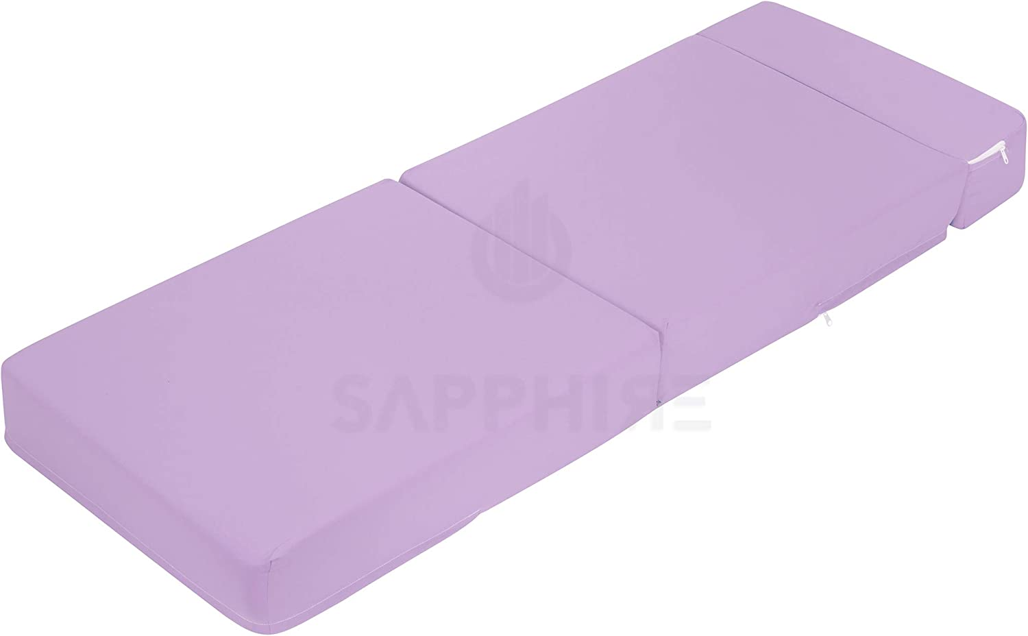 G/&H Lilac Folding Mattress with Removable Cover Sofa Bed Chair Bed Single Fold Out Z Bed