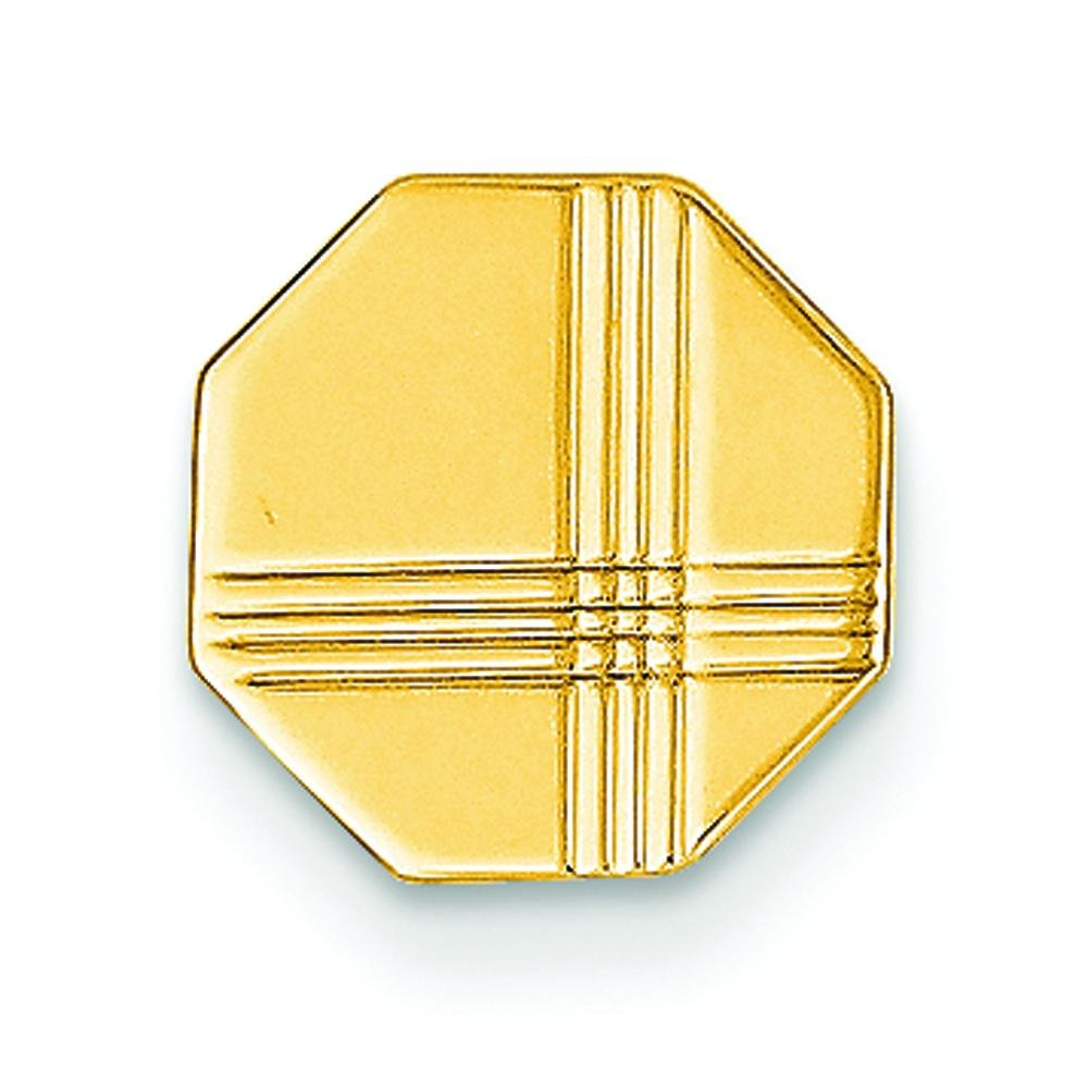 14K Yellow Gold Tie Tac Mens Jewelry Polished New |A