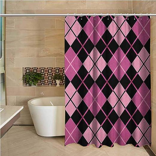 Vintage Tile Liner Checkerboard Pattern Pink//Black