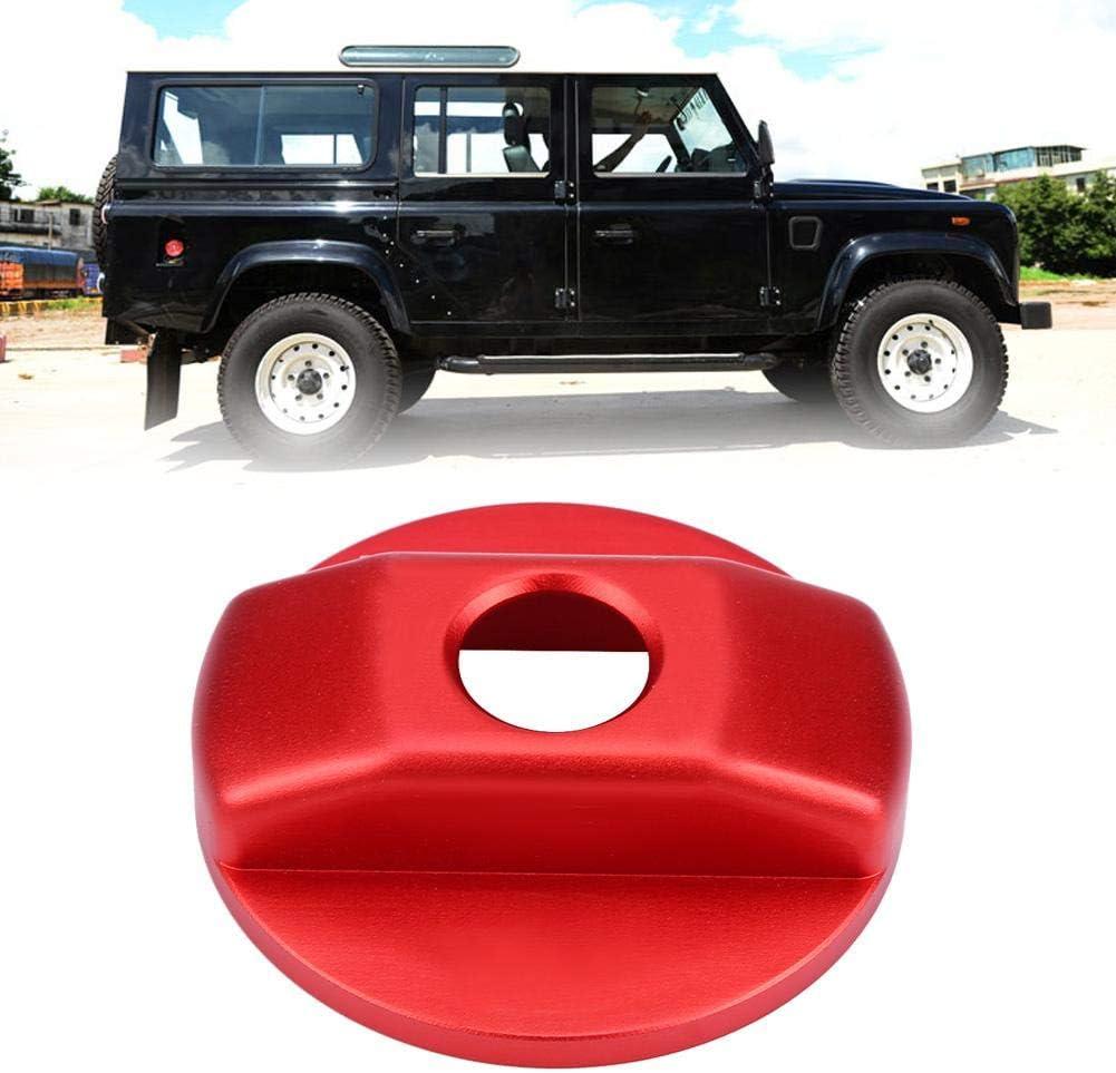 Akozon Car Diesel Gas Tank Cap Tapa del tanque de combustible Decoraci/ón Tapa Trim para Defender 90110 2007-2016 rojo