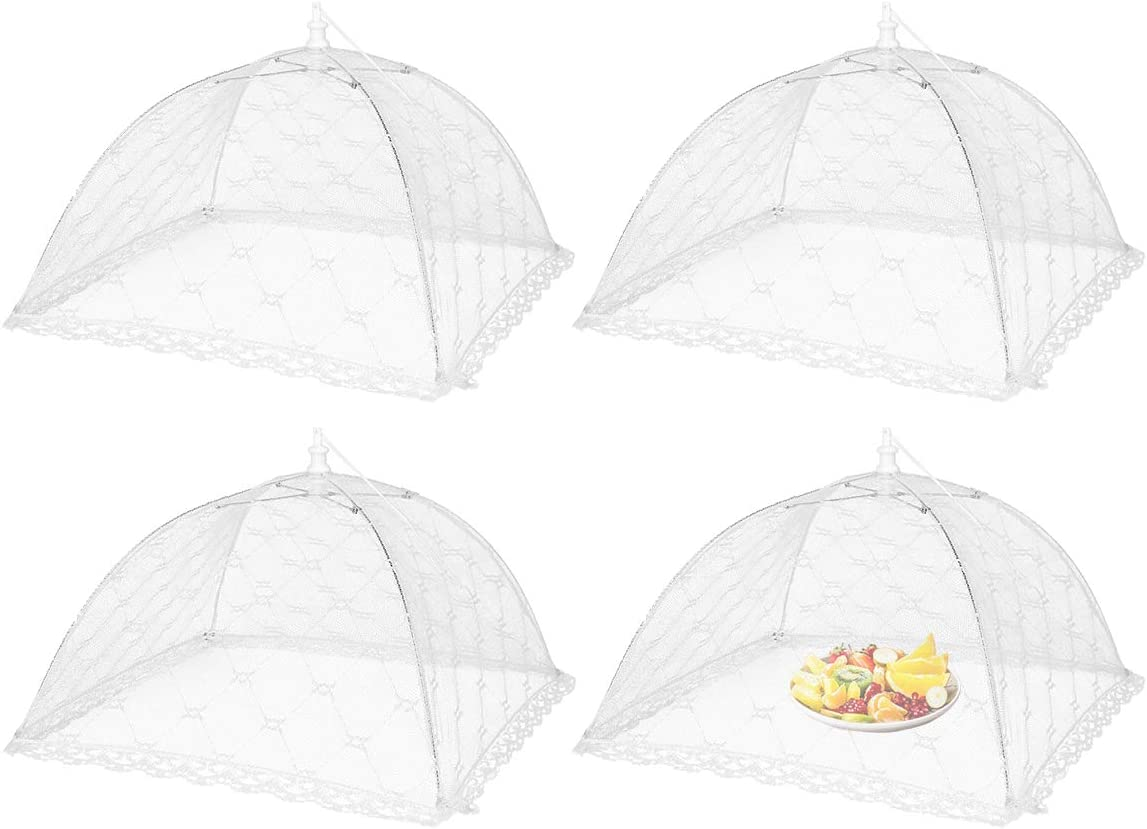 KAOYOO Pop-Up Mesh Food Cover Tents(4 Pack White,14