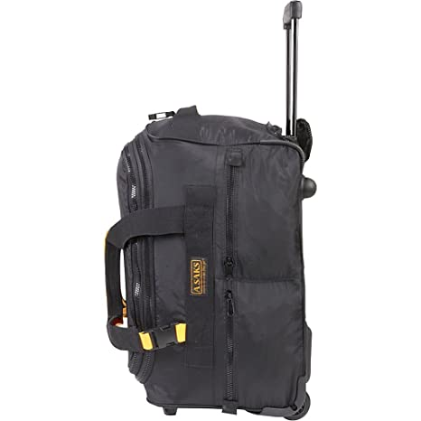 b44d758acbb6 Amazon.com  A. Saks EXPANDABLE 20 Rolling Trolley Duffel - Black  PORTMANTOS