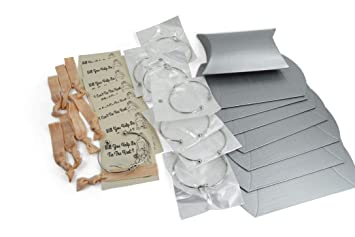 Bridesmaid Gifts 7 Silver Knot Bracelet Hair Ties 2 Sides Proposal Card Gift Box Ask Bridal Party