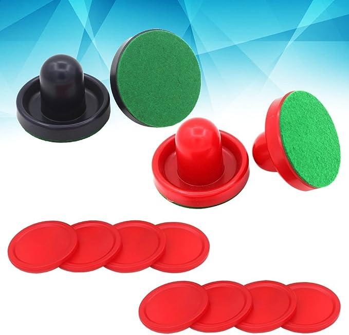YeahiBaby 16PCS 76MM Air Hockey Pushers y Pucks Reemplazo para porteros de mesas de Juego (Rojo y Azul Oscuro): Amazon.es: Juguetes y juegos