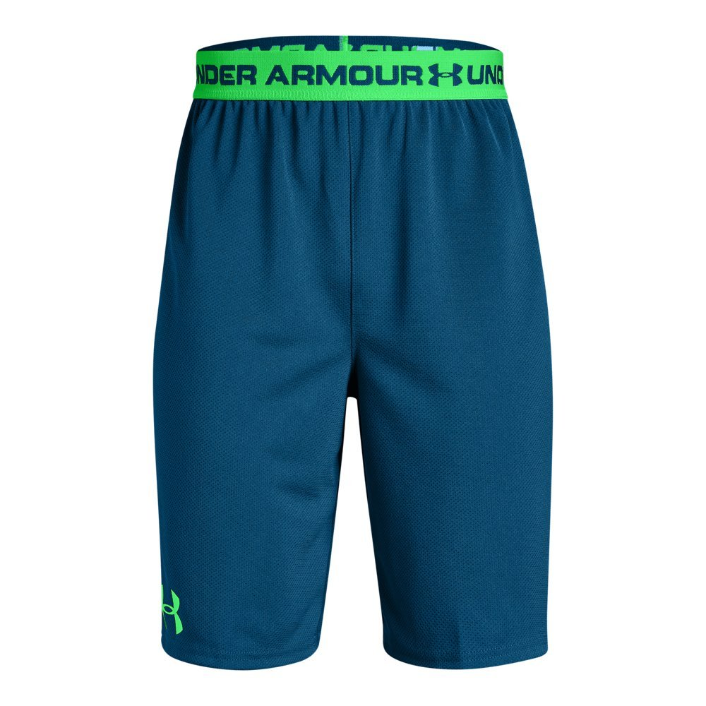 Under Armour Boys' Tech Prototype 2.0 Shorts, Moroccan Blue (487)/Arena Green, Youth X-Small