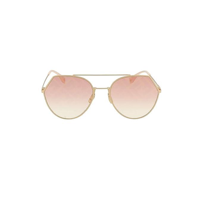 Fendi Ff 0194/s Gafas de sol Mujer Oro: Amazon.es: Ropa y ...