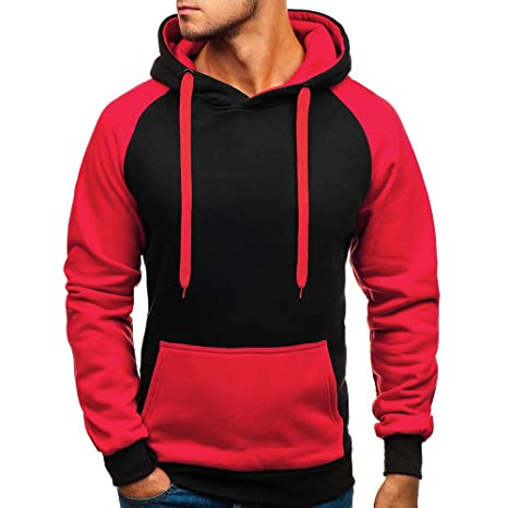 Men Blouse Teen Boy Pullover Top Patchwork Pullover Blouse Sweatshirt Hoodies at Amazon Mens Clothing store: