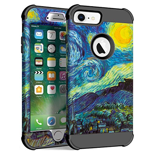- Maxcury Case Compatible for iPhone 6 6s 7 8,Three Layer with Vincent Willem Van Gogh Painting Element for Regular Size iPhone 6 7 8 in 4.7 Inch (The Starry Night - Black, iPhone 6/6s/7/8)
