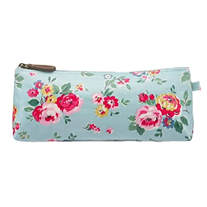 Cath Kidston grande estuche en pozos de azul diseño de rosas ...