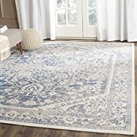 Safavieh Patina Collection PTN318A Grey and Blue Cotton Area Rug (4 x 6)