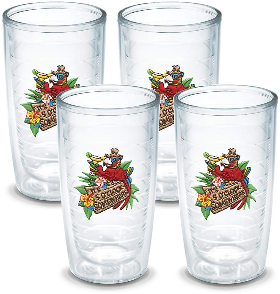 Tervis Tumbler Margaritaville It's 5'Clock Somewhere 16-Ounce Double Wall Insulated Tumbler, Set of 4 - 1000039