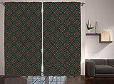 Cheap Native American Decor Curtains Ancient Border Navajo Tribal Symbol Living Room Bedroom Decor 2 Panel Set