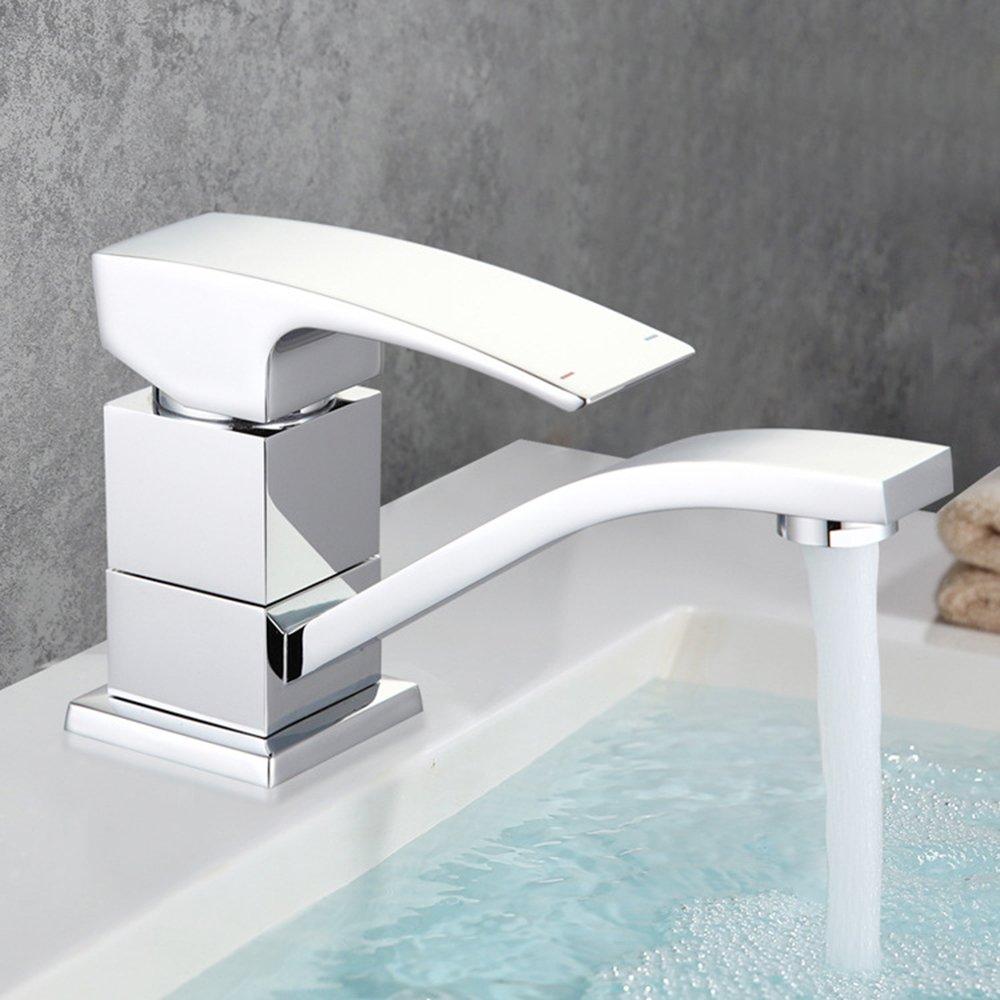 Wanshengeinzelnes Griff-Einzelnes Loch-Moderne Badezimmer-Waschbecken-Hahn-Chrom-Becken-Mischerhahn (MF00144)