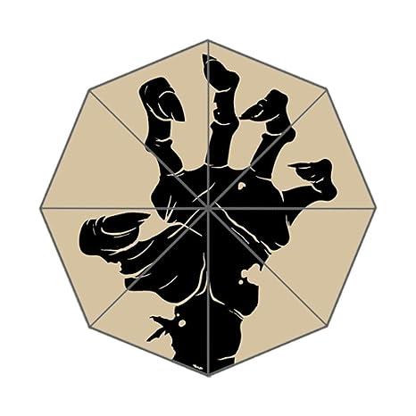 Xinzuo Vintage Halloween icono Zombie mano paraguas compacto anti-UV plegable paraguas