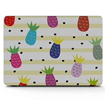 Computer Cover Summer Fashion Sweet Fruit Pineapple Plastic Hard Shell Compatible Mac Air 11 Pro 13 15 MacBook Case Protection for MacBook 2016-2019 Version