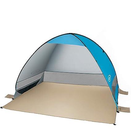 G4Free - Tienda de campaña para Playa con toldo automático para 3 o 4 Personas, protección Solar contra Rayos UV, portátil