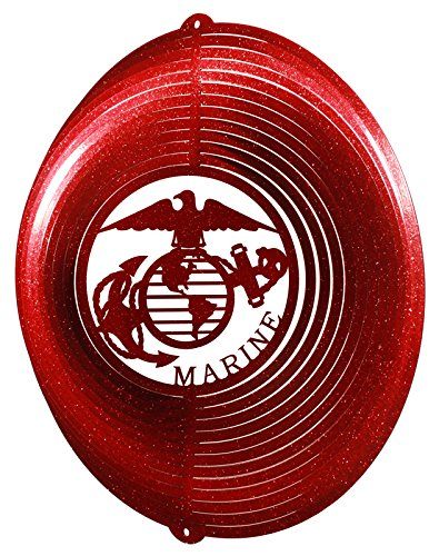 SWEN Products US Marines Circle Swirly Metal Wind Spinner by SWEN Products