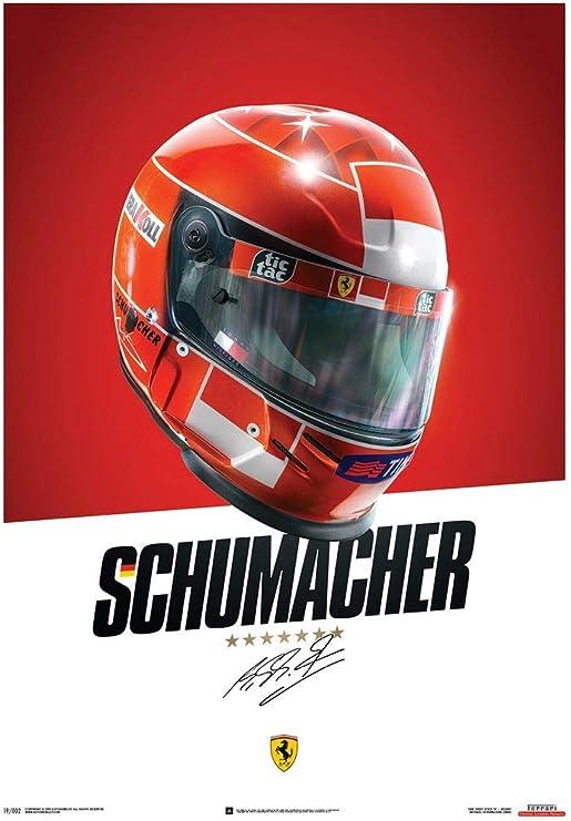 Amazon Com Automobilist Store Ferrari F1 2000 Michael Schumacher Helmet Unique Design Poster Standard Poster Size 19 X 27 Inch Posters Prints