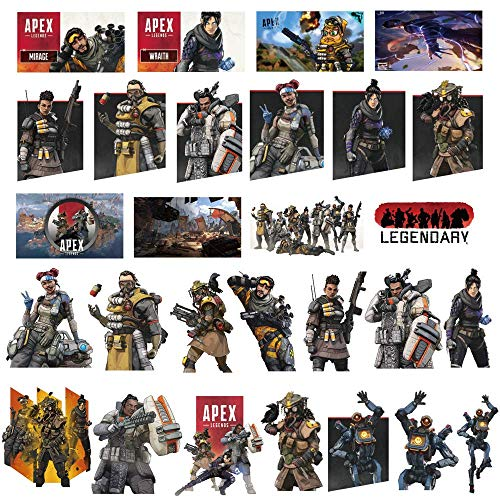 Apex Legends Gaming Stickers, 80Pcs Waterproof Vinyl Sticker Decals Pack for Xbox PS4 Computer Laptop Water Bottle Luggage Motorcycle Bike Skateboard