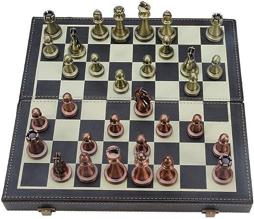 Xiix Ajedrez Internacional de la Piel Collection Junta Juego de ajedrez Plegable jugadas del Juego Divertido Juego de ajedrez portátiles Viajes Juegos de Mesa Juego de ajedrez: Amazon.es: Hogar