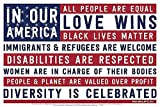 Picture Peddler Laminated In Our America Patriotic Flag Inspirational Art Print Poster, 18x12