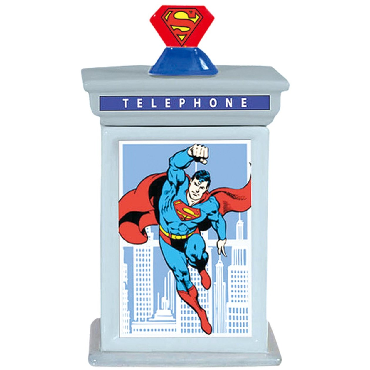 Cookie Jar - DC Comic - Superman - Phone Booth New Licensed Gifts Toys 25549 B00KIW2AB2