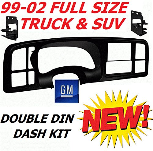 99 00 01 02 Silverado Sierra Suburban Yukon Tahoe Avalance Double Din Dash Kit Full Size Gm Truck Suv Car Stereo Radio Cd Dvd Nav Navigation Video Install Installation Bezel