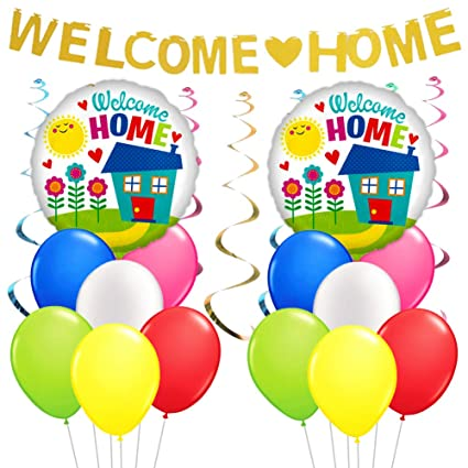 Amazon Com Kreatwow Welcome Home Decorations Welcome Home Banner