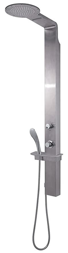 Gedy Thermostatic Shower Column.Gedy Gysp10502 Shower Column With Waterfall Shower Head In Brushed