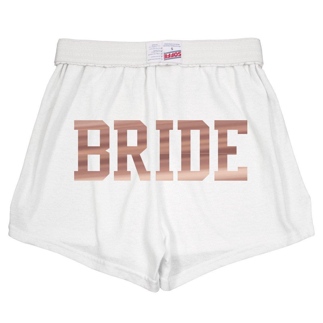 Metallic Rose Gold Wedding Bride: Slim Fit Soffe Shorts